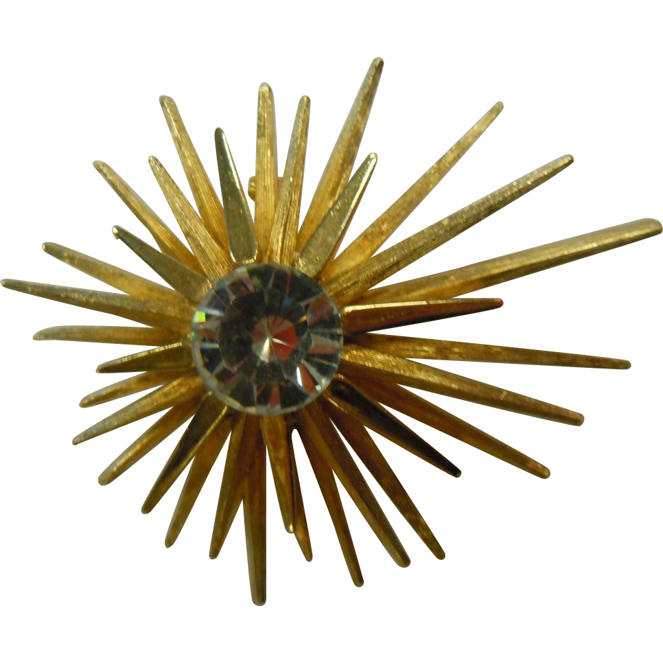 Vintage Signed CAPRI 'Star Burst' Brooch