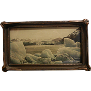 "Old Original Framed Photograph ""Winter Pond"" Juneau"