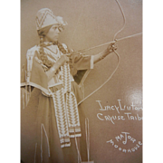Vintage Original B&W Photograph Postcard Major Moorhouse - Lacy Lutom Cayuse Tribe - Red Tag Sale Item