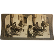 Vintage Keystone Stereo View Card - Southwest Indians - Home Duties of the Hopi Men