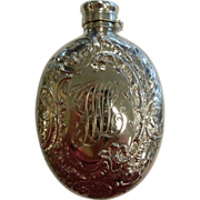 Antique Hallmarked Gorham 1892 Sterling Silver 3/8 Pint Ornate Licquor Flask