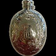 Antique Hallmarked Gorham 1892 Sterling Silver 3/8 Pint Ornate Licquor Flask