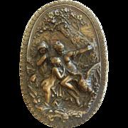Vintage Bronze Plaque Signed G. Schoeman 1974