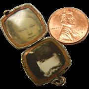 Vintage Sterling Silver Locket Monogrammed 'K' - H.F.B