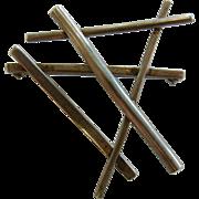 Vintage Mid-Century Modern Designer Sterling Silver Angle Brooch