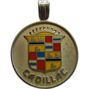 Fine Sterling Silver Pendent w/ Bail - CADILLAC Logo