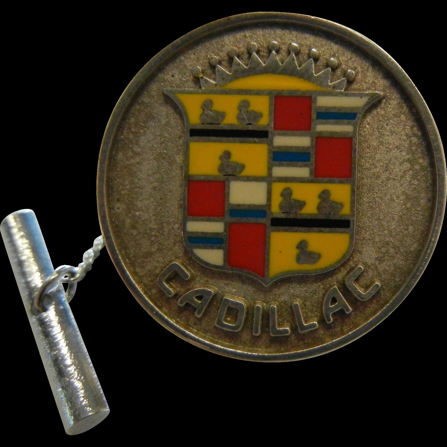 Fine Sterling Silver Lapel Pin - Cadillac Logo Medium