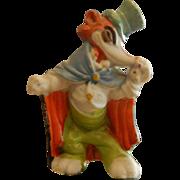 Vintage Walt Disney Productions Porcelain Figurine Red Fox - Honest John