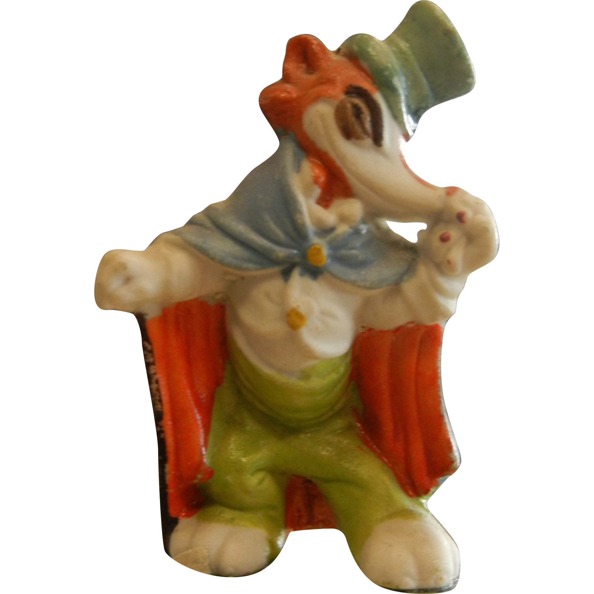 Vintage Walt Disney Productions Porcelain Figurine Red Fox - Honest John