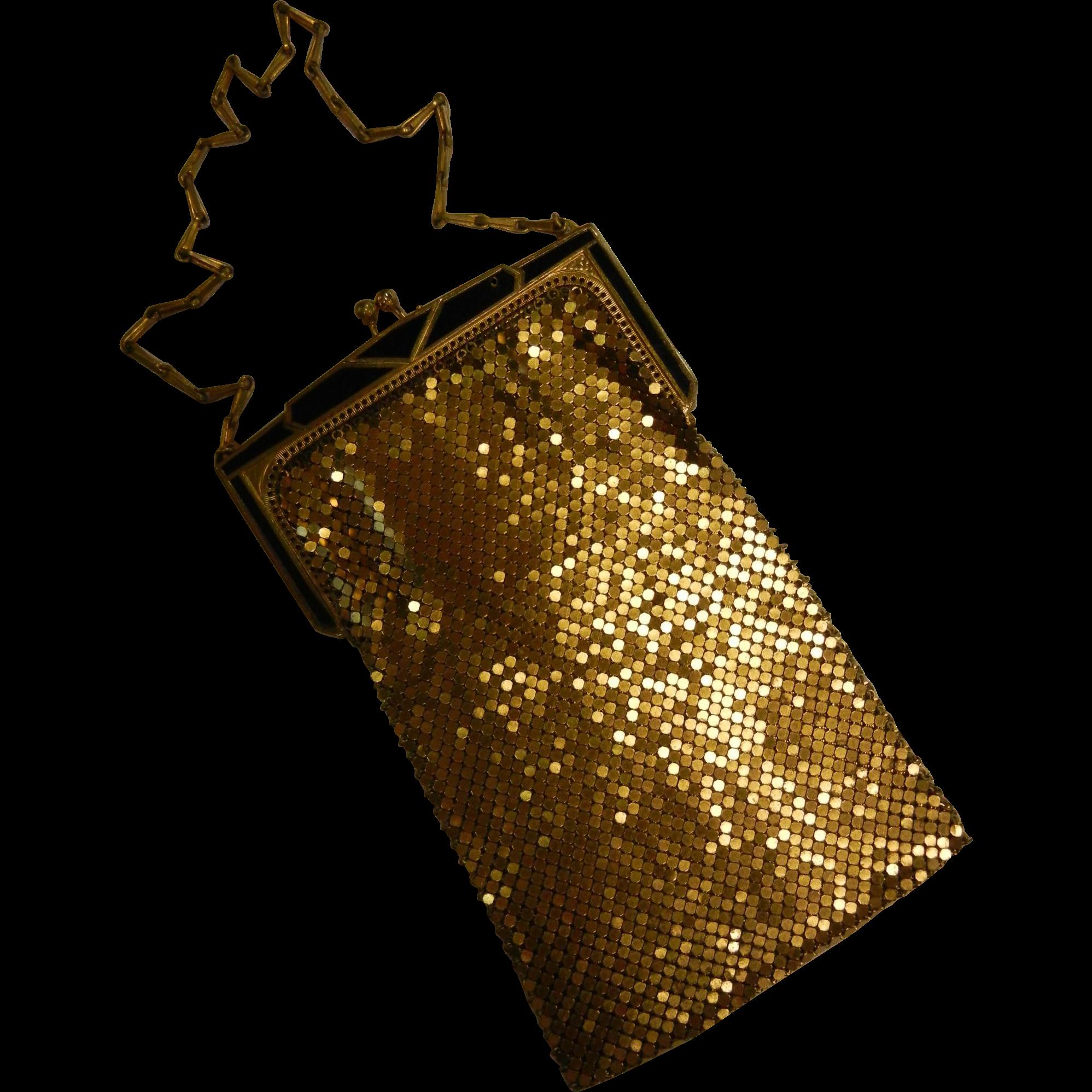 Vintage Whiting & Davis Gold-Tone Mesh Handbag