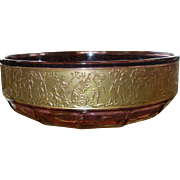 Vintage  Moser Purple Glass Bowl w/ Gilded Edge Detail