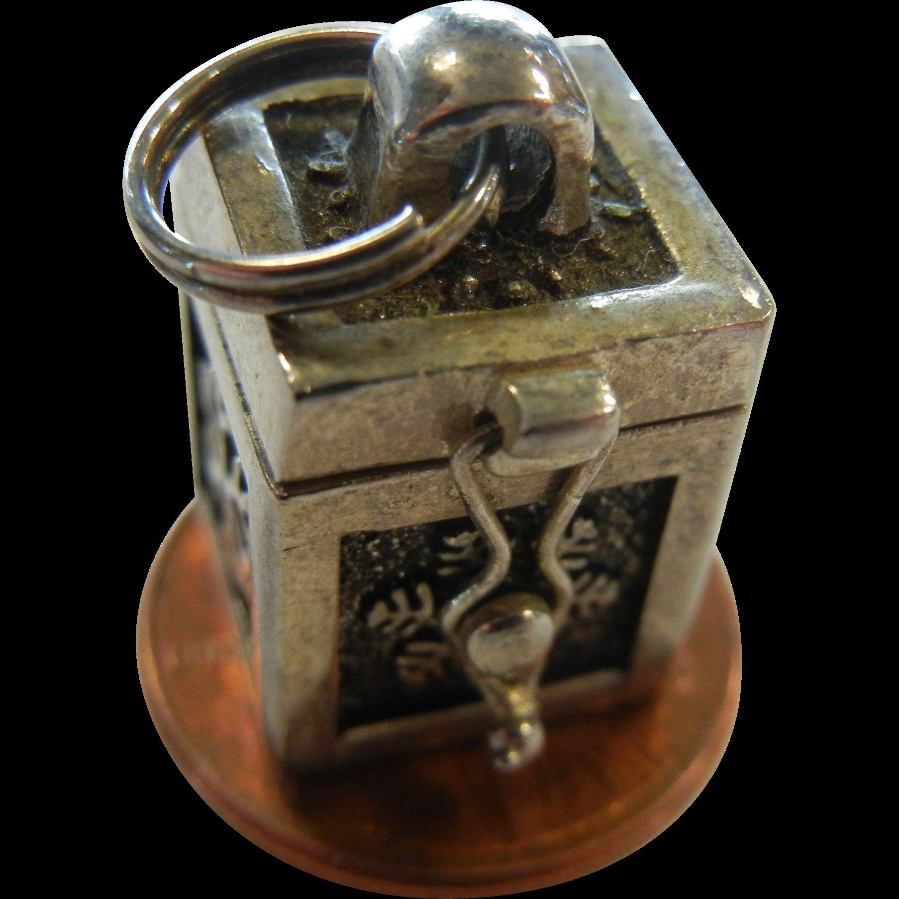 Fine Silver-Tone Keepsake Box Charm