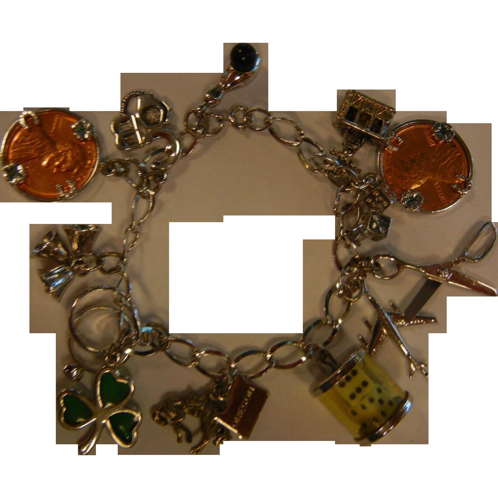 Fine Sterling Silver 'Lucky Charm' Charm Bracelet