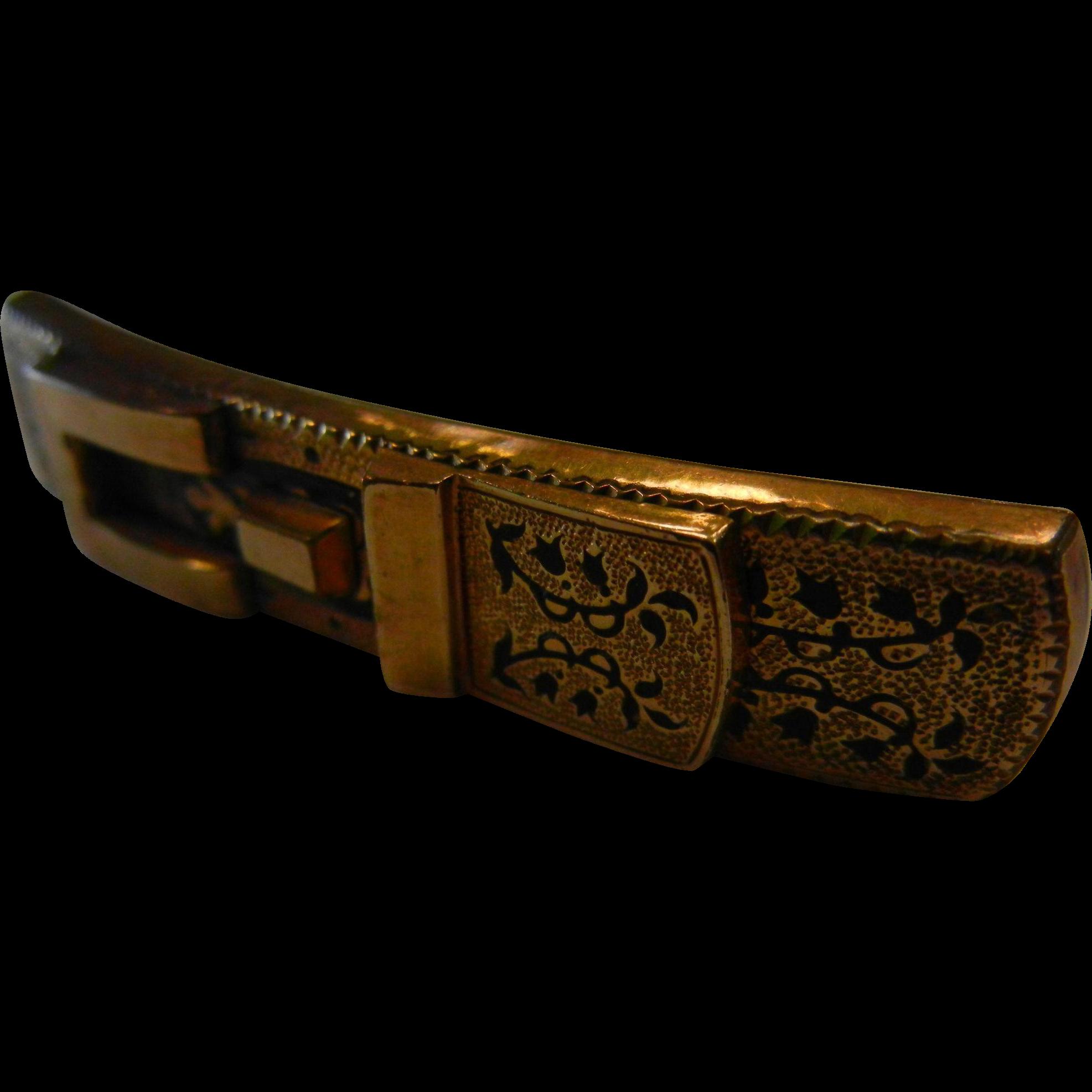 Vintage Gold Filled Buckle Brooch