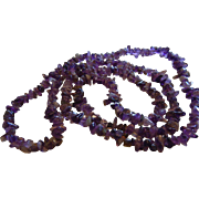 Natural Amethyst Chip Bead Necklace