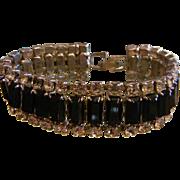Vintage Black/Clear Rhinestone Link Bracelet