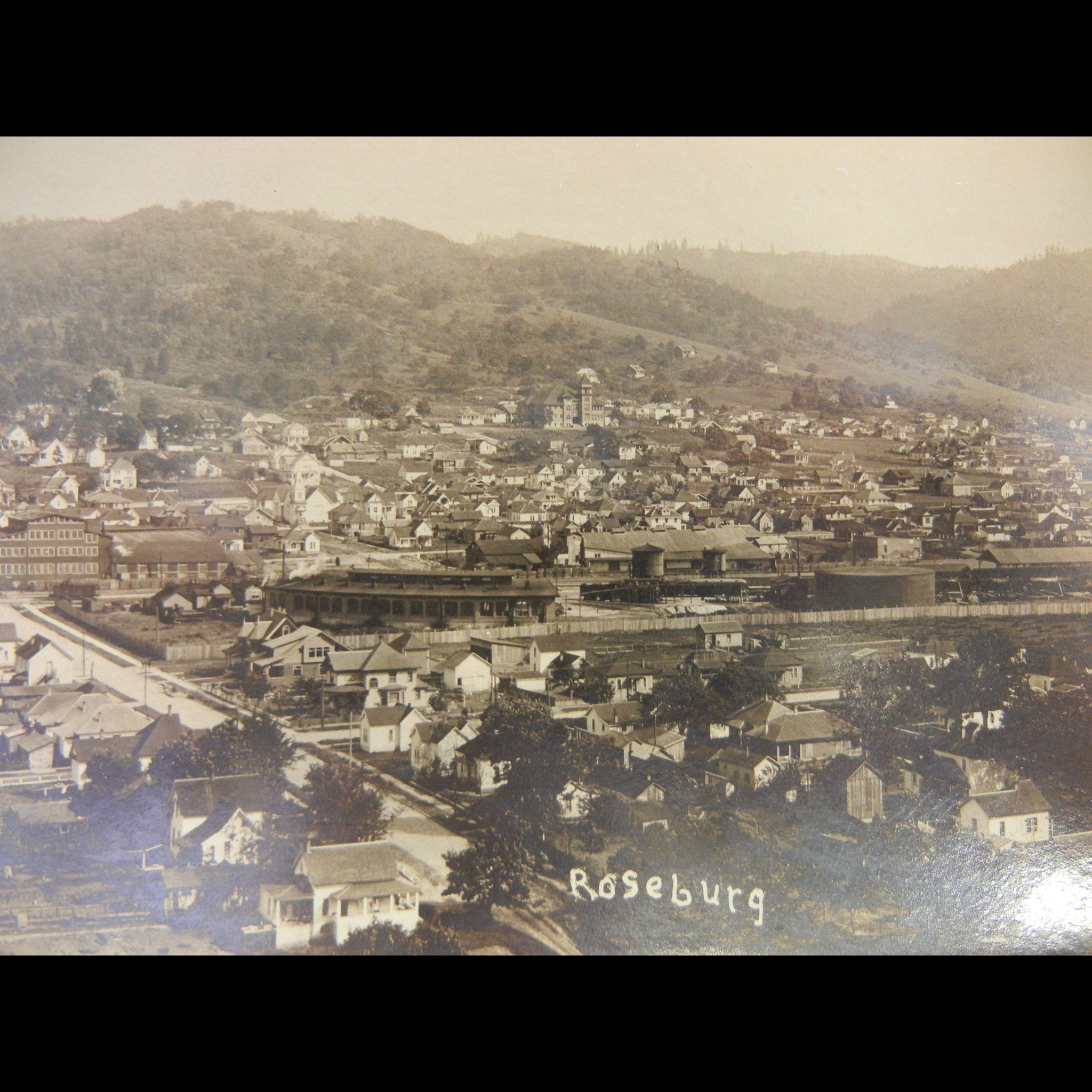 Vintage Original Photograph Postcard of Roseburg Oregon