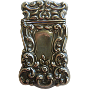 Antique Sterling Silver Match Safe