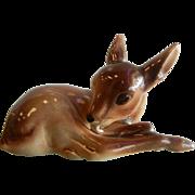 Adorable Vintage Porcelain Fawn Baby Deer Figurine
