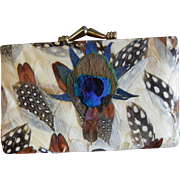 Vintage Feathered Wallet/Coin Purse