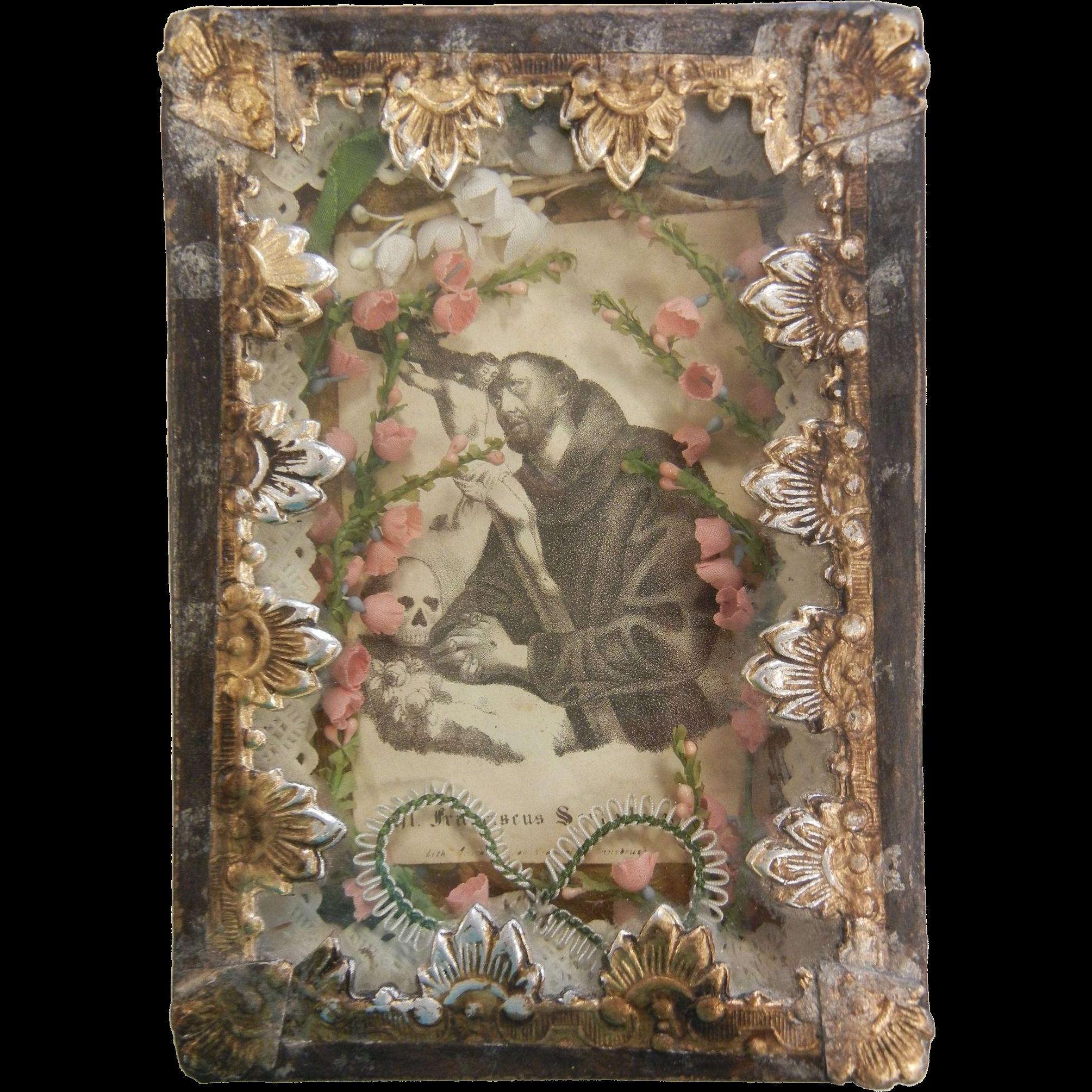 Antique Catholic Saint Reliquary Case