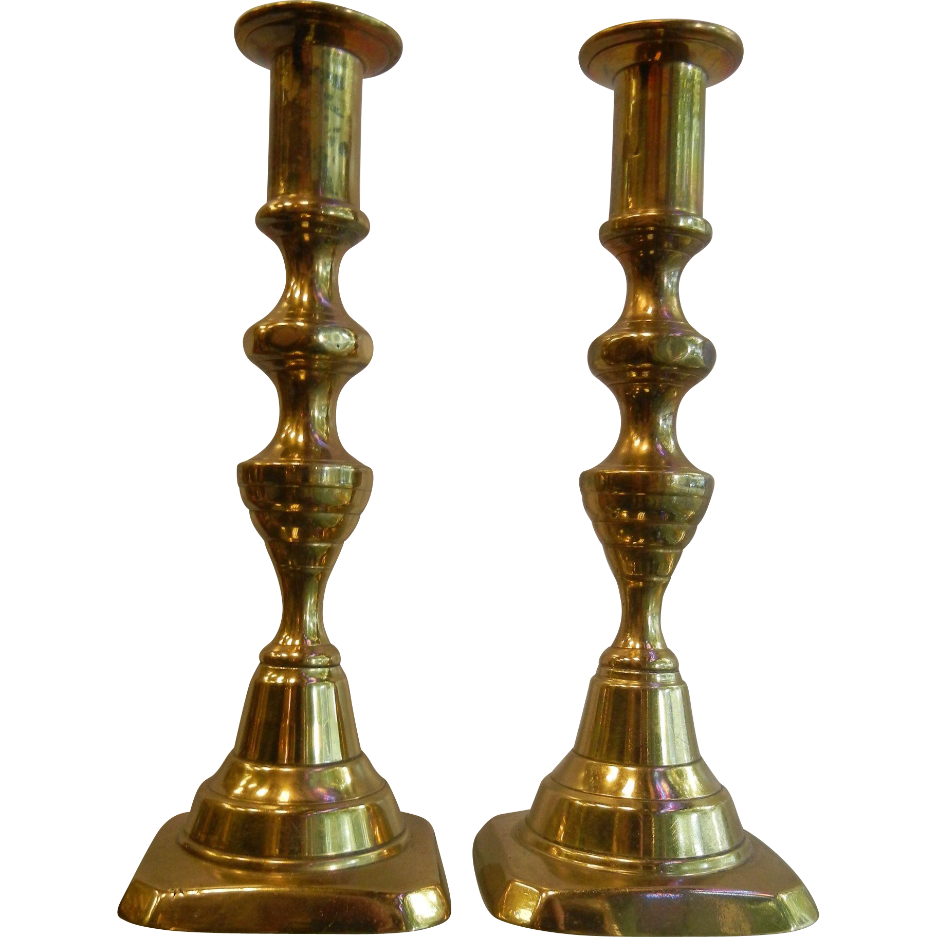 Vintage Brass Candlestick Pair