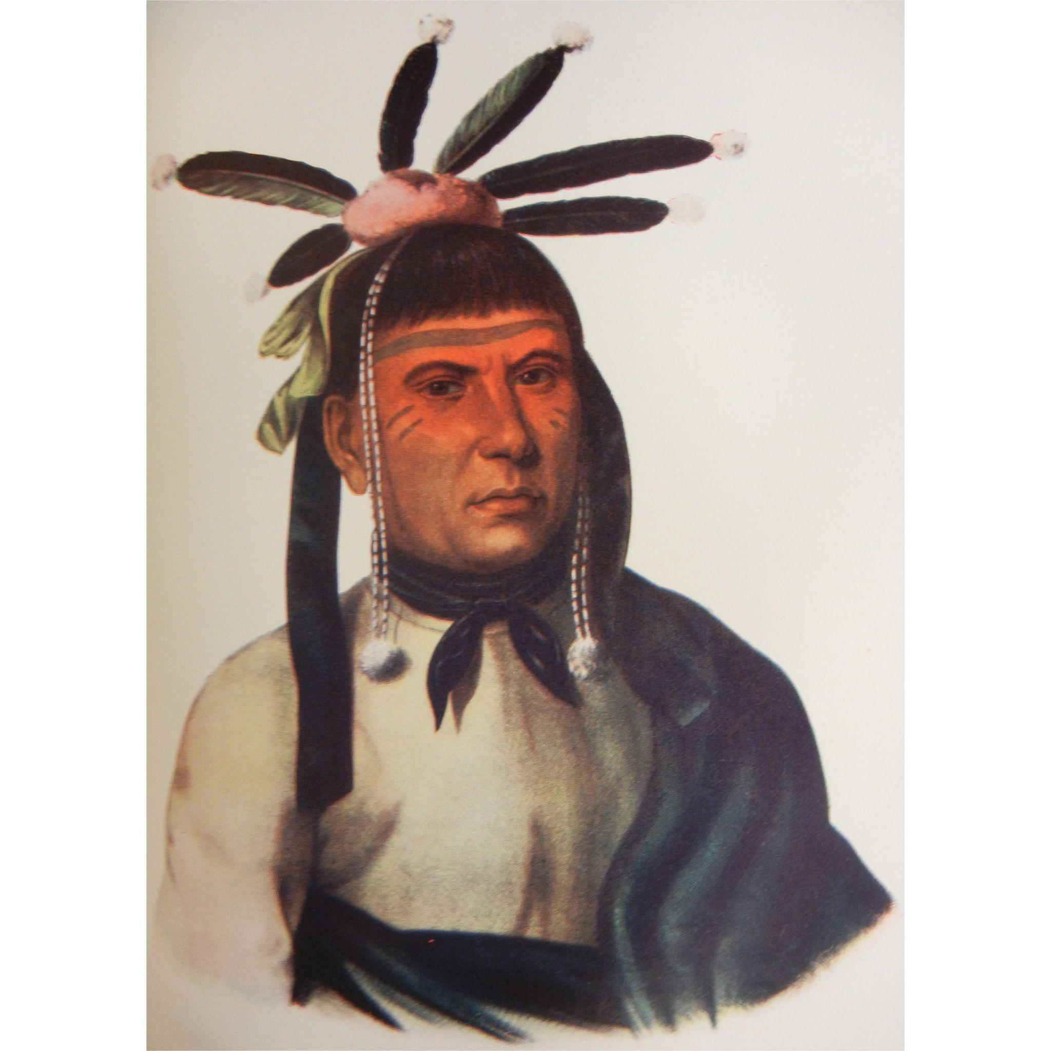 1935 First Edition Book of The Indian Tribes of North American Vol. 3 by Thomas McKenney & James Hall