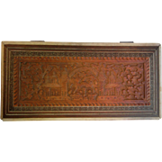 Vintage Intricate Ornate Hand Carved Wooden Box