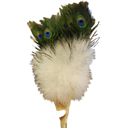 Super Fabulous Fluffy Feathered Fan w/ Peacock Feathers