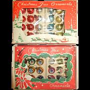 Vintage Japan Miniature Glass Christmas Tree Ornaments