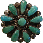 Fine Very Old ZUNI Turquoise Stone Ring