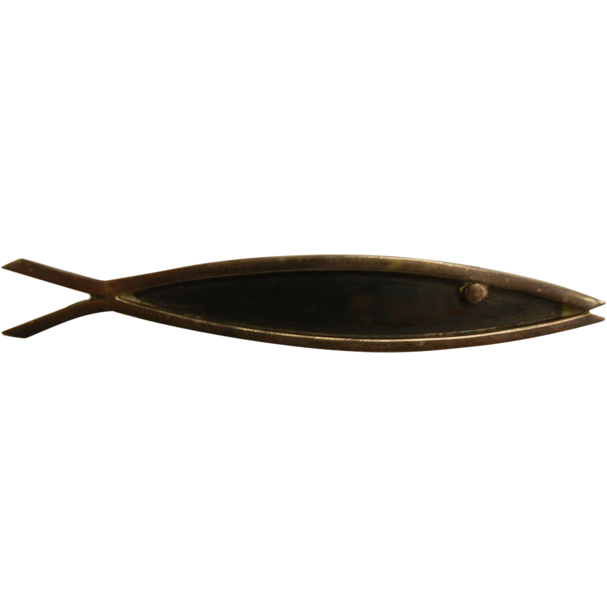 Vintage Mexican Hallmarked Sterling Silver Fish Brooch Del Fino