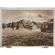 Original 1918 Copyrighted Printed Picture & Review of the Paradise Inn, Mount Rainier National Park