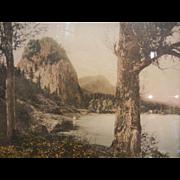 Vintage Framed Original Northwest Colorized Photograph