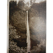 Vintage Original B&W Photo Postcard of Latourelle Falls Columbia River, Oregon