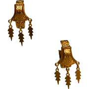 Superb Victorian Gold Filled Clip-on Earrings