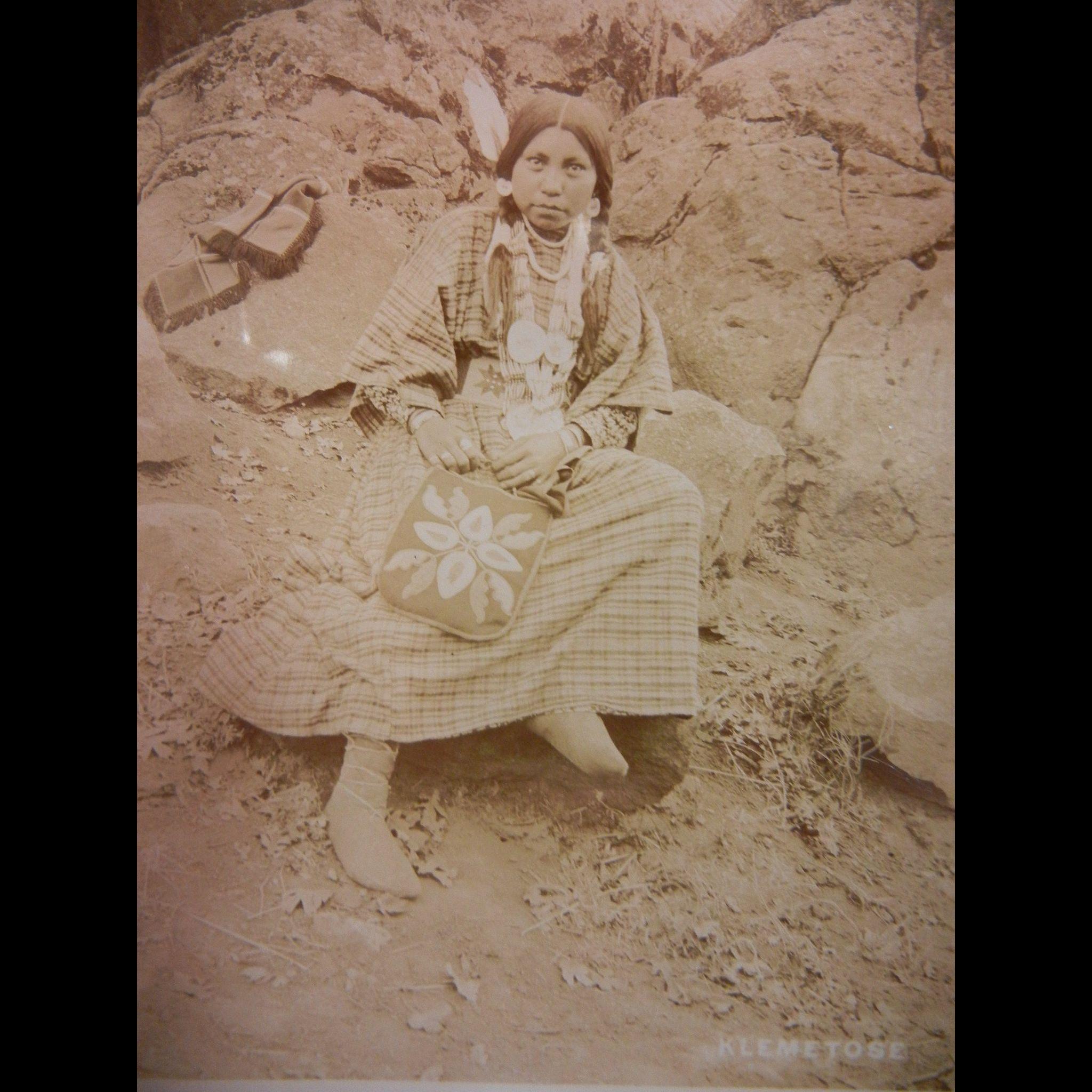 Vintage Original Fannie Van Duyn Photographs of Warm Springs Native American Girls