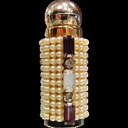 Vintage Rhinestone Adorned Perfume Bottle