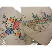 Large Collection of Embroidered Handkerchiefs