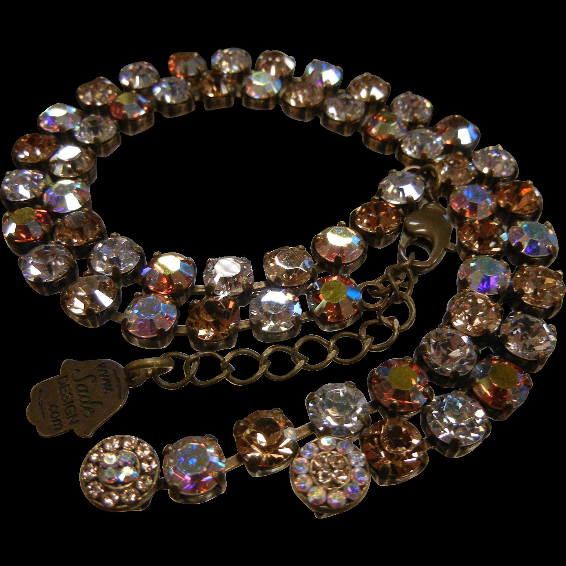 Autumn Color Aurora Borealis Crystal Necklace