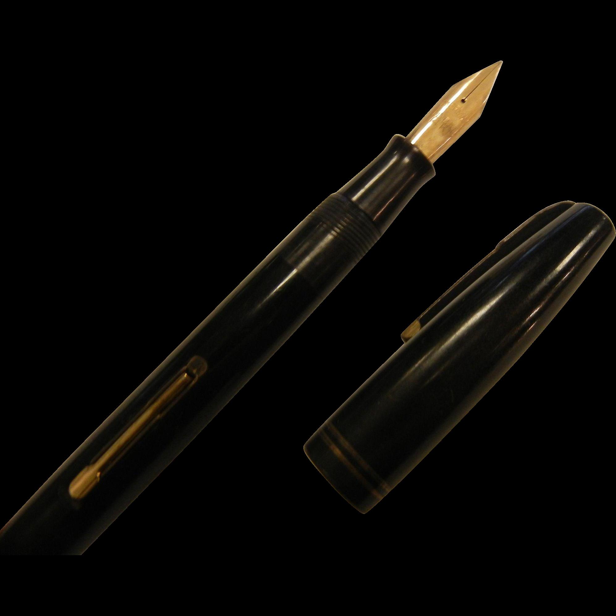 Waterman 39 s commando fountain pen w 14k ideal nib sold on for Waterman 16