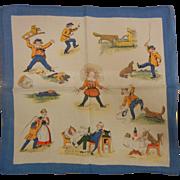 """Old Vintage German Storybook """"Struwel Peter"""" Handkerchief"""