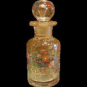 Vintage Velvet Perfume Vanity Box w/ One Bottle