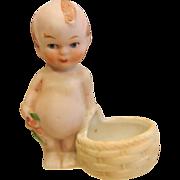 Vintage Bisque Kewpie Doll Figurine With Basket