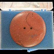 Catlinite Banner Stone Button 722