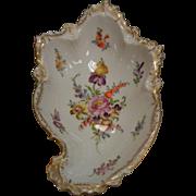 Vintage Hand Painted Porcelain Dish Signed Austria Dresden