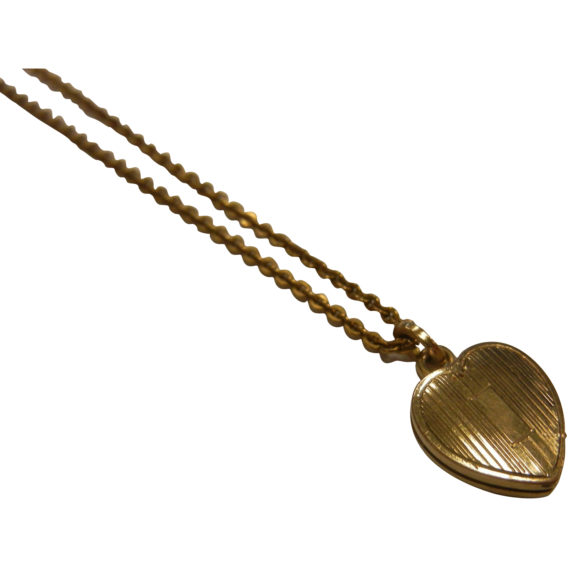 Fine Child Doll Size Gold Filled Locket Pendent Necklace