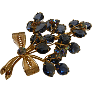 Vintage Gold-Tone Austrian Crystal Brooch