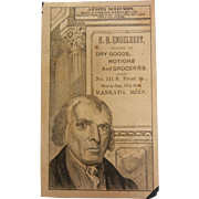 Old Advertising Paper for H.H. Engelbert Dry Goods and Groceries