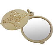 Vintage Celluloid Plastic Compact Mirror